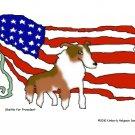 Sheltie for President Dog Art Print