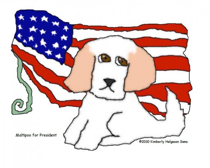 Maltipoo for President Dog Art Print