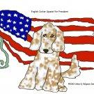 English Cocker Spaniel for President Dog Art Print