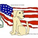 Yellow Lab for President Dog Art Print