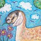 NUBIAN Irresistible Garden Dairy Goat Giclee Art Print