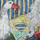 Do Sebastopol Geese Have Martinis Giclee Print