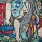 """""""Blues City Bass"""" Cubism Giclee Art Print"""