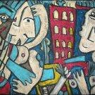 """Blues City Nights"" Cubist Giclee Art Print"