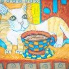 Munchkin Coffee Break Cat Art Giclee Print