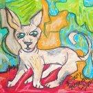 Sphynx Cat Chrome Dome Kitty Giclee Art Print