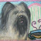 Briard Coffee Break Limited Edition Signed Numbered Giclee Dog Art Print
