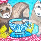 Do Ferrets Have Coffee Ferret Art Giclee Print Limited Edition by Stage Dragon