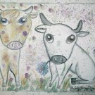 Big Eye Bovine Art Giclee Print by Stage Dragon Cow & Bull