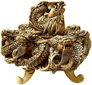 9 Dragon stone incense burnner
