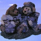 Boyds Bears Bearstone 1995 Football Buddies Resin