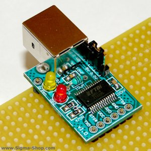 FTDI USB to serial UART interface Board for AVR PIC