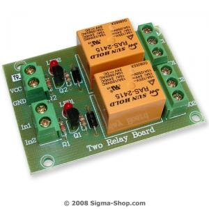 Two RELAY BOARD ready for your PIC, AVR project : 24V