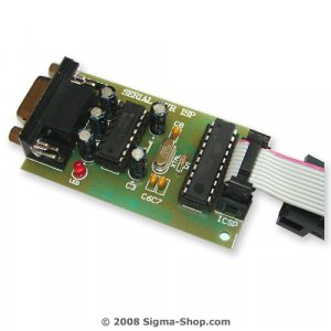 Serial Atmel ISP programmer works with AVR Studio 4