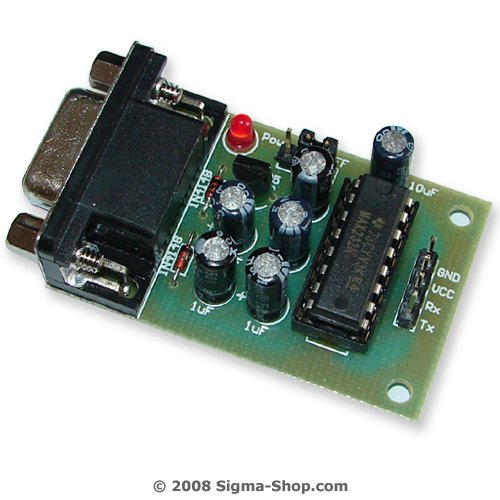 MAX232 RS232 to TTL Converter Adapter for ATMEL AVR PIC