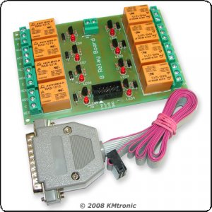 LPT Relay Controller, Control devices using you PC, 24V
