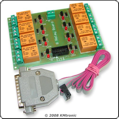 LPT Relay Controller, Control devices using you PC, 12V