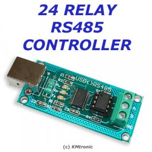 USB > RS485 > 24 Channel Relay Board Controller