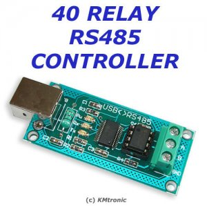 USB > RS485 > 40 Channel Relay Board Controller