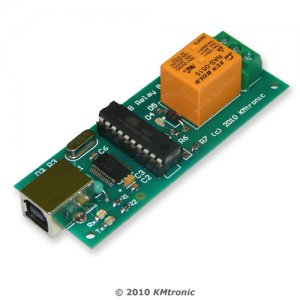 USB Relay Controller One Channel - RS232 Serial controlled PCB