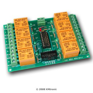 Eight RELAY BOARD ready for your PIC, AVR project - 12V