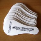 WHITE Protective Hygienic Strip, Liner, Sticker - Strings, Thongs, Gloss foil, 100 pcs