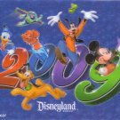 Disneyland 2009 Postcard - Lenticular with 6 characters FREE SHIPPING