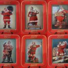 Franklin Mint Set of SIX Coca Cola Santa Limited Fine Porcelain Collector Plates Free Shipping