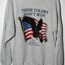 These Colors Don't Run! 1991 Opeeration Desert Strom Men's Sweat Shirt Size XL