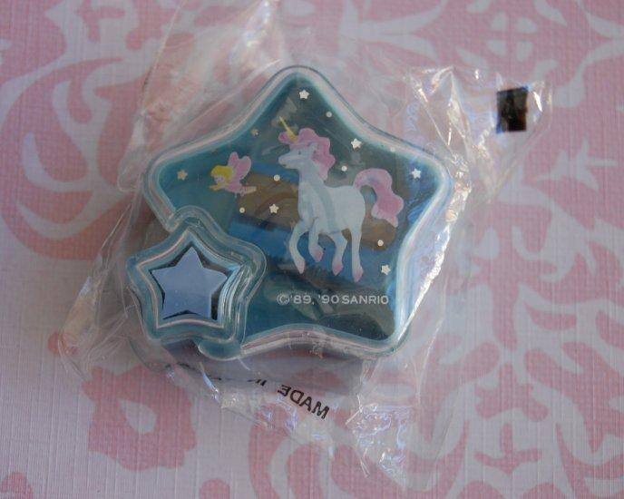 1990 SANRIO Hello Kitty Flight of Fancy UNICORN Vintage Star Eraser Sharpener NEW