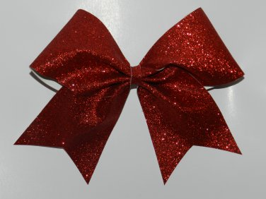 Texas Size  Cheer bow - Red Glitter