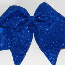 Texas Size  Cheer bow - Royal Glitter