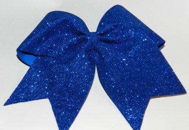 Texas Size  Cheer bow - Royal Glitter