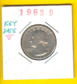** TOUGH DATE ** == 1983d == Wash 25cent