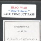 """IRAQ war """" SAFE CONDUCT PASS """""""