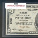 "1929 $5.00 National "" PITTSBURGH, PA """