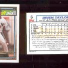 92 Topps GOLD rookie Brien Taylor