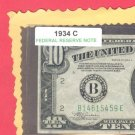 $10  FRN 1934c  =B14815459E