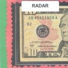 Radar ~ ~  $10.00  FRN ~~ 8081 1808