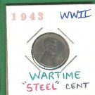 "WWII  "" Steel "" One Cent .......1943"