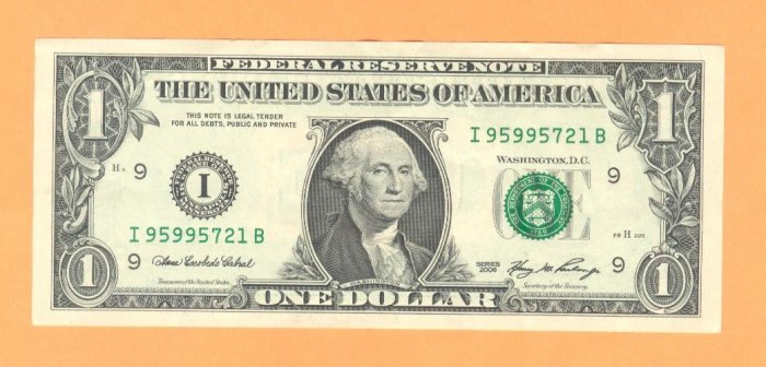 95995721 HI Serial #   $1.00 FRN  == LQQK