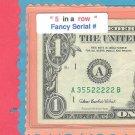 """"""" 5 in a ROW """"  ~~~ 355 22222 == Fancy #"""