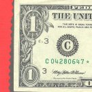 """1995 """" C """" STAR $1.00 FRN"""