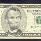 """1999 """" F """" STAR $5.00 FRN"""