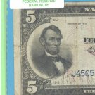 Series 1915   $5.00 ~~  FRBN