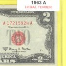 1963a $2.00 Red Seal .... A17215924A