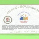 Jamestown, VA ~~~ $1.00 Commemorative 400th Anniversary