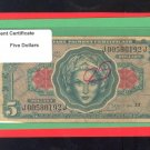 Series 641 ~~ $5.00 ~~~ Military Payment Certificate