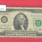 """1976 """" B """" STAR $2.00 FRN = B01320015*"""