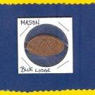 MASON ~~ Rolled penny ~~ BLUE LODGE